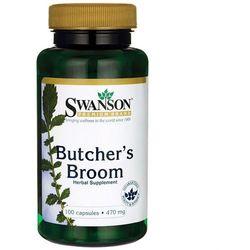 Butcher's Broom 470mg ruszczyk kolczasty 100 kapsułek Swanson
