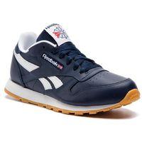 Buty sportowe dla dzieci, Buty Reebok - Classic Leather DV4571 Collegiate Navy/White/Gum
