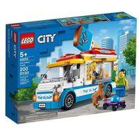 Klocki dla dzieci, 60253 FURGONETKA Z LODAMI (Ice-Cream Truck) KLOCKI LEGO CITY