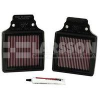 Filtry powietrza do motocykli, filtr powietrza K&N KA-1299-1 2 sztuki 3120882 Kawasaki ZX-12R 1200