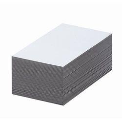 Magnetyczna tablica magazynowa, białe, wys. x szer. 30x100 mm, opak. 100 szt. Za