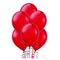 Balony lateksowe metaliczne czerwone - średnie - 25 szt.