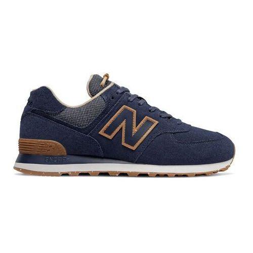 Męskie obuwie sportowe, New Balance Sneakersy ML574SOH Granatowy