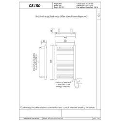 Grzejnik łazienkowy wetherby v - grzejnik wykończenie proste, 400x600,