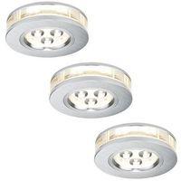 Oprawy, Paulmann 92541 - SET 3x LED Oprawa wpuszczana PREMIUM LINE 3xLED/3W/230V