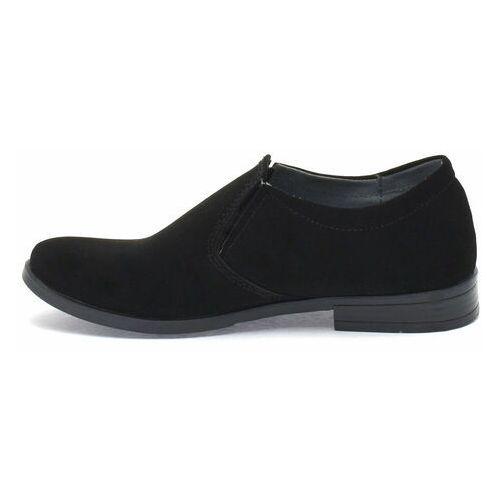 Pozostałe obuwie dziecięce, Czarne buty komunijne dla dzieci Kornecki 06650 wciągane