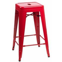 Stołek barowy Paris 66cm czerwony inspirowany Tolix - D2 Design - Zapytaj o rabat!