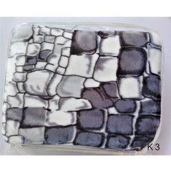 Koc tłoczony szara mozaika
