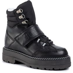 Trapery TOMMY JEANS - Outdoor Leather Flatform Boot EN0EN00623 Black 990