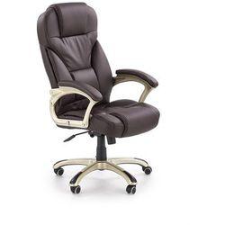 Fotel gabinetowy obrotowy HALMAR DESMOND ciemny brąz - ZŁAP RABAT: KOD50
