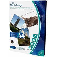 Papiery fotograficzne, MediaRange papier fotograficzny A4, 50 arkuszy, 160g, dwustronny błyszczący (MRINK108)