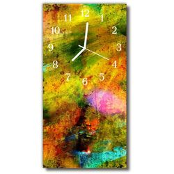 Zegar Szklany Pionowy Farba malowany kolorowy