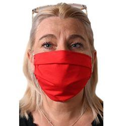 Maseczka maska wielorazowa do prania dwuwarstwowa czerwona