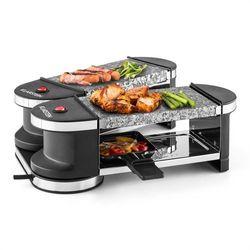 Klarstein Tenderloin grill mini-raclette 600 W 360°podstawa 2 gorące kamienie Zamów ten produkt do 21.12.16 do 12:00 godziny i skorzystaj z dostawą do 24.12.2016