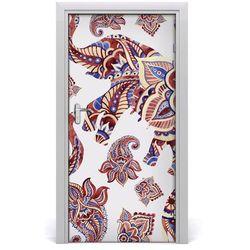 Naklejka samoprzylepna na drzwi Słoń etniczne wzory