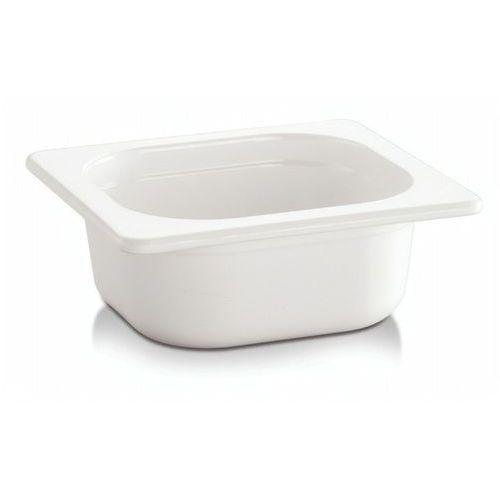 Kosze i pojemniki gastronomiczne, Pojemnik GN 1/6 gł. 6,5 cm z melaminy biały
