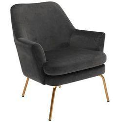 CHISA fotel szara złote nogi