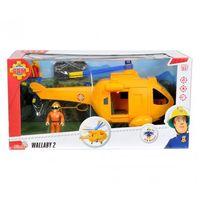 Helikoptery dla dzieci, Strażak Sam Helikopter Wallaby II z figurką