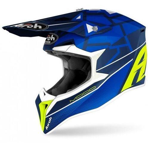 Kaski motocyklowe, Airoh kask off-road wraap mood blue gloss