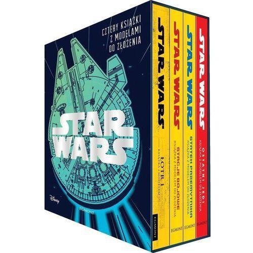 Książki dla dzieci, Star Wars Cztery książki z modelami do złożenia - Praca zbiorowa (opr. twarda)