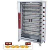 Grille gastronomiczne, Opiekacz gazowy do kurczaków, 8 widelców (48 kurczaków)