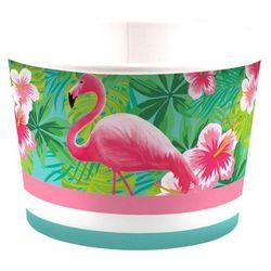 Kubeczki do lodów Flamingi - 270 ml - 8 szt.