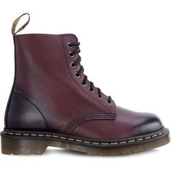 Dr Martens 1460 PASCAL ANTIQUE TEMPERLEY CHERRY RED - Buty Glany