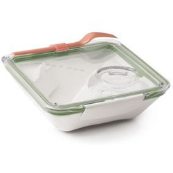 Pudełko na lunch Box Appetit oliwkowo-białe