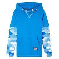 Koszulki z krótkim rękawkiem dziecięce, Shirt chłopięcy 2 w 1 w deseń moro bonprix niebieski oceaniczny - moro