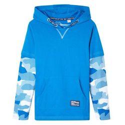 Shirt chłopięcy 2 w 1 w deseń moro bonprix niebieski oceaniczny - moro