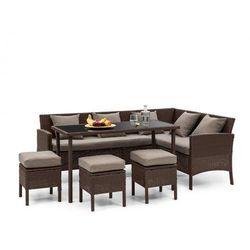 Blumfeldt Titania Dining Lounge Set Komplet mebli ogrodowych brązowy/brązowy