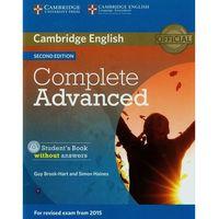 Książki o zdrowiu, medycynie i urodzie, Complete Advanced 2nd Edition. Podręcznik bez Klucza + CD (opr. miękka)