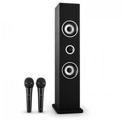 Karaboom Głośnik Bluetooth Zestaw karaoke 2 mikrofony czarny