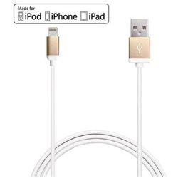 PURO Metal - Kabel połączeniowy USB Apple złącze Lightning 1m MFI (złoty)