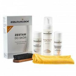 Colourlock Strong zestaw do czyszczenia skóry z mleczkiem pielęgnującym