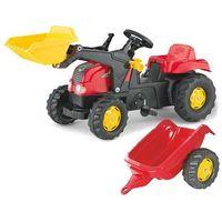 Traktory dla dzieci, ROLLY TOYS TRAKTOR KID Z ŁYŻKĄ I PRZYCZEPĄ CZERWONY 5023127