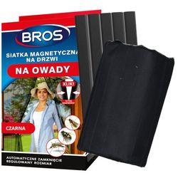 Moskitiera na drzwi na magnesy Bros czarna 160x220cm