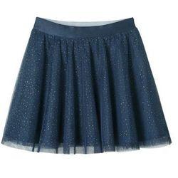 Spódnica tiulowa z brokatowym połyskiem. bonprix ciemnoniebieski