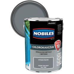 Emalia chlorokauczukowa Nobiles do metalu i betonu szara stalowa 5 l