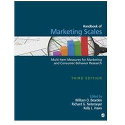 Handbook of Marketing Scales Bearden, William O. (opr. twarda)