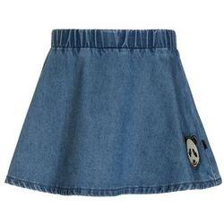 Småfolk PANDA FACE PATCH Spódnica jeansowa medium blue