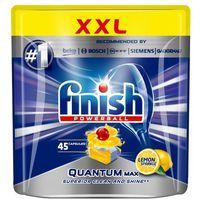 Kostki do zmywarek, FINISH Powerball Quantum Max tabletki do mycia naczyń w zmywarkach Lemon Sparkle 45szt