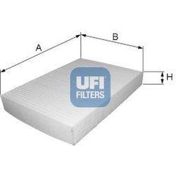 Filtr, wentylacja przestrzeni pasażerskiej UFI 53.030.00