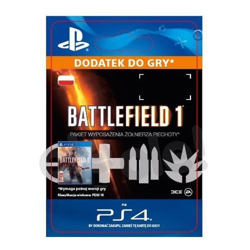 Klucze i karty przedpłacone, Battlefield 1 - Pakiet Wyposażenia Żołnierza Piechoty [kod aktywacyjny]