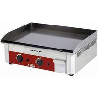 Grille gastronomiczne, Płyta grillowa gazowa gładka nastawna | 600x400mm | 6400W