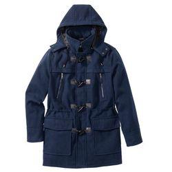 Płaszcz budrysówka z domieszką wełny bonprix ciemnoniebieski