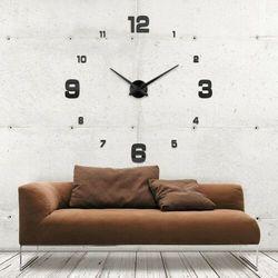 Duży zegar ścienny 3D czarny KLASYCZNY czarny większa niż 50 cm