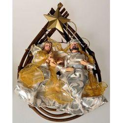 Dekoracja do powieszenia Święta Rodzina, złoty