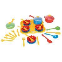 Pozostałe zabawki, Party World Zestaw obiadowy 31 el. żółty