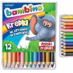 Kredki Bambino 12 kolorów w drewnie